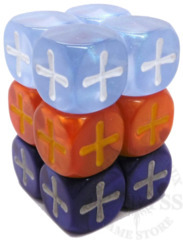 12 Fudge D6 Fate Dice Winter Knight - EHP9004