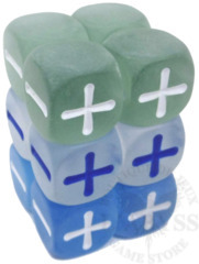 12 Fudge D6 Fate Dice Frost - EHP9016