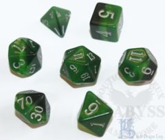 7 Polyhedral LD Birthday Dice Set May Emerald - LD-BDEME3