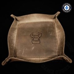 Premium Leather Dice Trays - Ork Brown