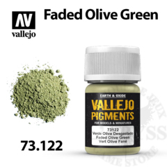 Vallejo Pigments - Faded Olive Green 35ml - Val73122