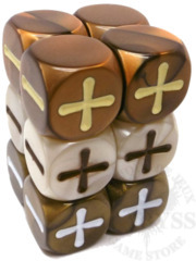 12 Fudge D6 Fate Dice Antiquity - EHP9013