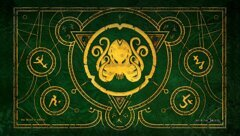 Infinite Black Play Mat - The Brand Of Cthulhu (Drowned Green) ( PLYM-020 )