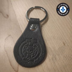 Premium Leather Keychain - Inquisition Black