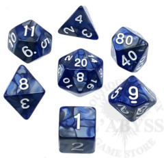 7 Polyhedral Abyss Dice Set IIXX Moon - AD023