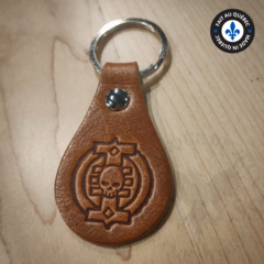 Premium Leather Keychain - Inquisition Brown