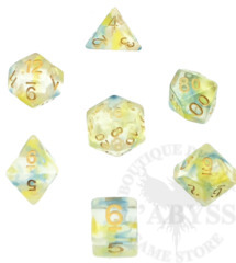 7 Polyhedral Abyss Dice Set Gluttony - AD035