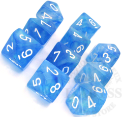 10 D10 Borealis Dice Sky Blue with White - CHX27226