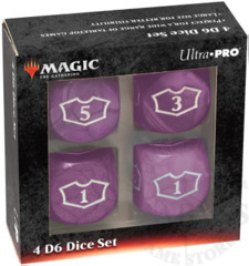 Ultra-Pro MTG Deluxe Loyalty 4D6 Dice set - Mana Black (86828)