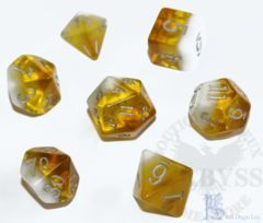 7 Polyhedral LD Birthday Dice Set November Citrine - LD-BDCIT3