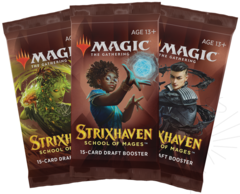 Strixhaven: School of Mages set of 3 Draft Booster Packs