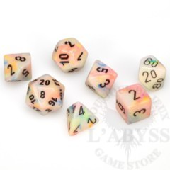 7 Polyhedral Dice Set Festive Circus with Black - CHX27442