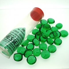 Glass Gaming Stones - Light Green 20+ (chx01135)