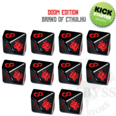 10 D10 Elder Dice - Brand of Cthulhu: Doom Edition (ED0-C0D)
