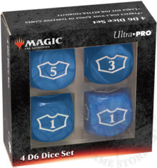 Ultra-Pro MTG Deluxe Loyalty 4D6 Dice set - Mana Blue (86827)