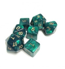 7 Polyhedral Dice Set Cheat Pearlescent green - CHX29015