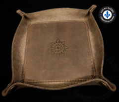 Premium Leather Dice Trays - Chaos Brown