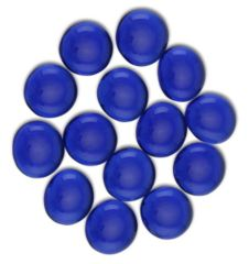 Glass Stone Gaming Counters - Sapphire Blue 30
