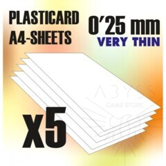 ABS Plasticard A4 Sheets 0.25mm x5 (9317)