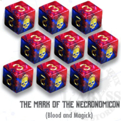 Elder Dice - 9 D6 The Mark of Necronomicon - Blood and Magick (ED6-N11)