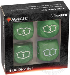 Ultra-Pro MTG Deluxe Loyalty 4D6 Dice set - Mana Green (86830)