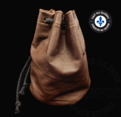Premium Leather Dice Bag - Brown Large