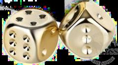 2 D6 Gold Plated 16mm - CHX29006