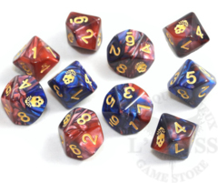 10 D10 Elder Dice - The Mark of the Necronomicon: Blood and Magick (ED0-N11)