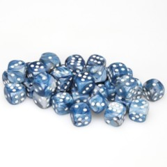 36 D6 Lustrous 12mm Dice State w/White - CHX27890