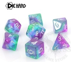 7 Polyhedral RPG Set - Translucent Sunset