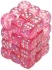 36 D6 Borealis 12mm Dice Pink w/Silver - CHX27804