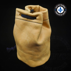 Premium Leather Dice Bag - Yellow Small