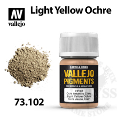Vallejo Pigments - Light Yellow Ochre 35ml - Val73102