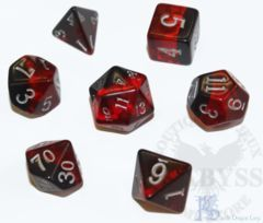 7 Polyhedral LD Birthday Dice Set January Garnet - LD-BDGAR3