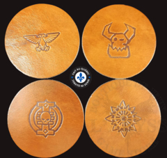 Premium Leather Coasters - Round Brown