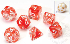 8 Polyhedral Dice Set Sirius Red Cloud