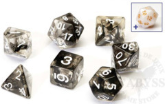 8 Polyhedral Dice Set Sirius Black Cloud