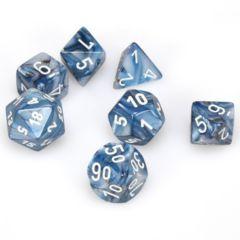 7 Polyhedral Dice Set Lustrous Slate w/White - CHX27490