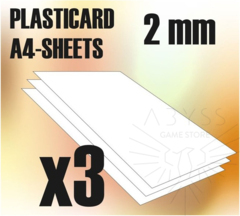 ABS Plasticard A4 Sheets 2mm x3 (9108)