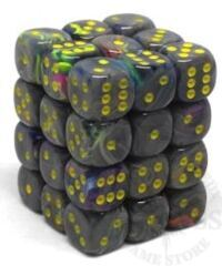 36 D6 Festive 12mm Dice Rio w/Yellow - CHX27849