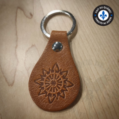 Premium Leather Keychain - Chaos Brown