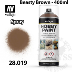 Vallejo Hobby Spray Paint - Beasty Brown 400ml - Val28019