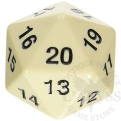Jumbo Spindown D20 55mm Ivory - KOP14799