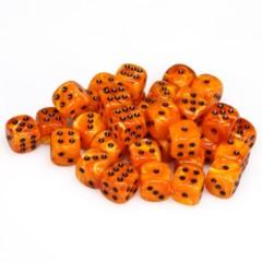 36 D6 Vortex 12mm Dice Orange w/black - CHX27833