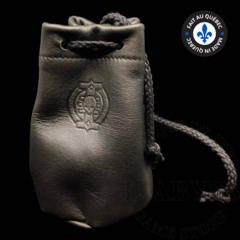 Premium Leather Dice Bag - Inquisition Black Small