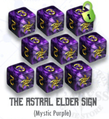 Elder Dice - 9 D6 Astral Elder Sign - Mystic Purple (ED6-A11)