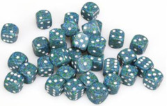 36 D6 Speckled 12mm Dice Sea - CHX25916