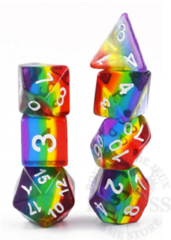 7 Polyhedral RPG Set - Transluscent Rainbow