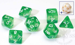 8 Polyhedral Dice Set Sirius Green Transluscent