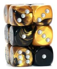 12 D6 Gemini 16mm Black-Gold w/Silver - CHX26651